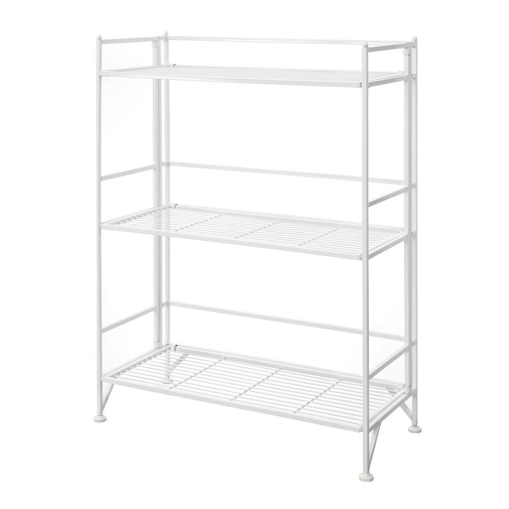 Convenience Concepts Designs2go White 3 Tier Metal Wire Shelving Unit 25 In W X 33 In H X 11 In D 8019w The Home Depot