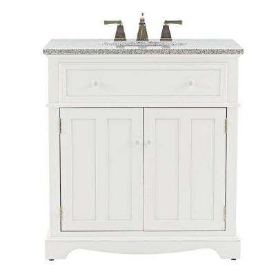 Fremont 32 In W X 22 D Bath Vanity White With Granite