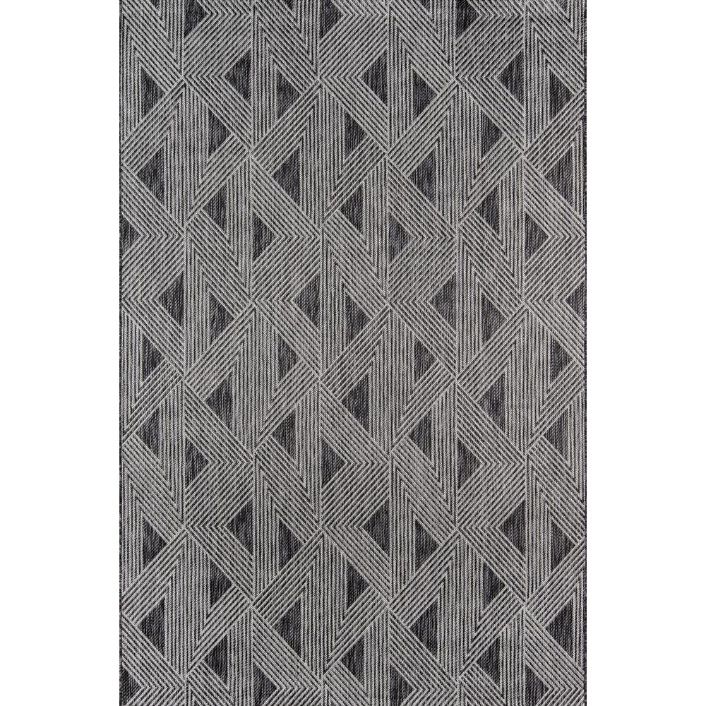 Momeni Sardinia Charcoal 3 ft. 3 in. x 5 ft. Indoor/Outdoor Area Rug