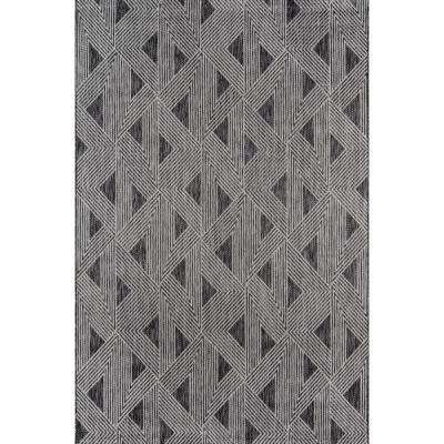 Sardinia Charcoal 9 ft. 3 in. x 12 ft. 6 in. Indoor/Outdoor Area Rug