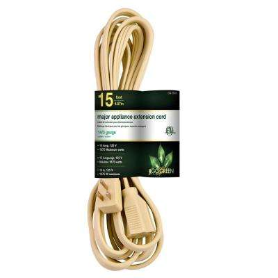 15 ft. 14/3 SPT A/C Extension Cord - Beige