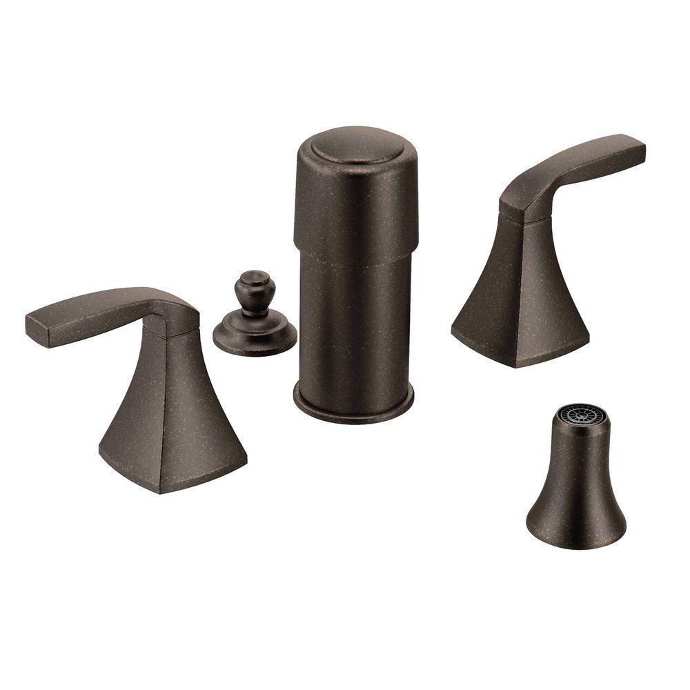 MOEN Voss 2-Handle Bidet Faucet Trim Kit in Oil Rubbed Bronze (Valve Not Included)