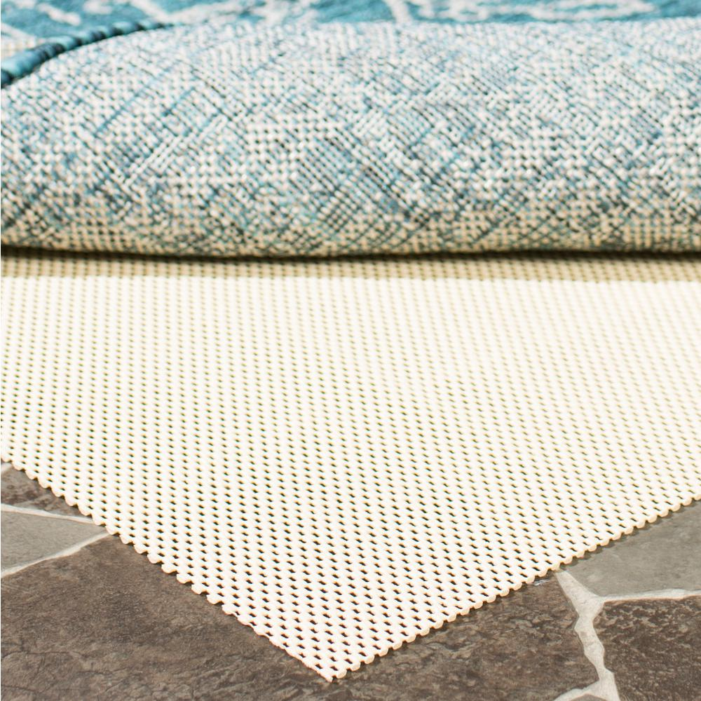 Outdoor Area Rug Pad: Safavieh Outdoor Creme 8 Ft. X 10 Ft. Non-Slip Rug Pad