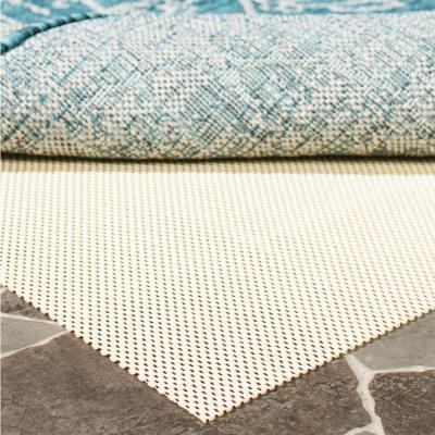 Outdoor Creme 10 ft. x 14 ft. Non-Slip Rug Pad