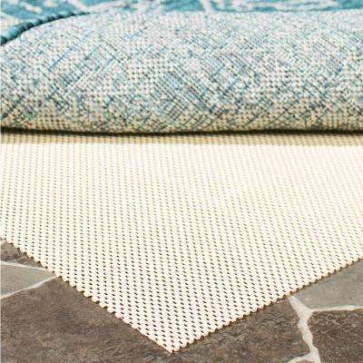 Outdoor Creme 8 Ft X 11 Non Slip Rug Pad