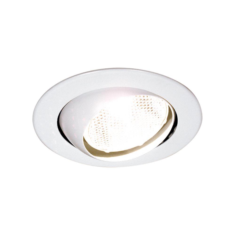 Thomas Lighting 4 In White Eyeball Recessed Trim