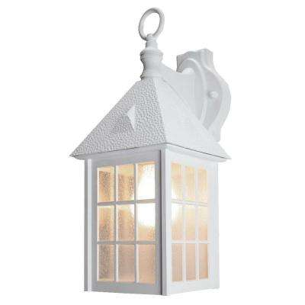 Belmont White Outdoor Wall-Mount Lantern