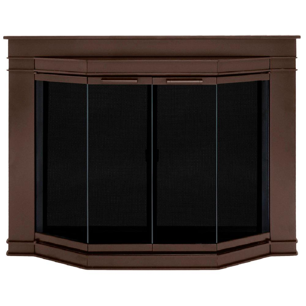 Pleasant Hearth Grantham Medium Gl Fireplace Doors