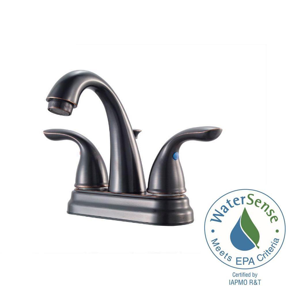 Pfister Saxton 8 in. Widespread 2-Handle High-Arc Bathroom Faucet ...