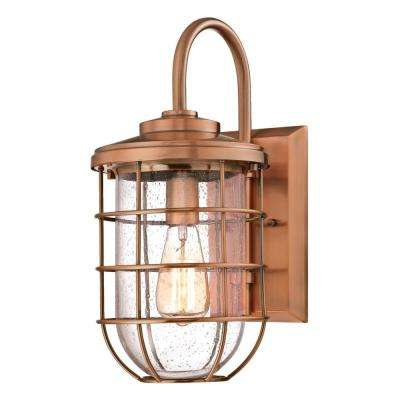 Ferry 1-Light Washed Copper Outdoor Wall Mount Lantern