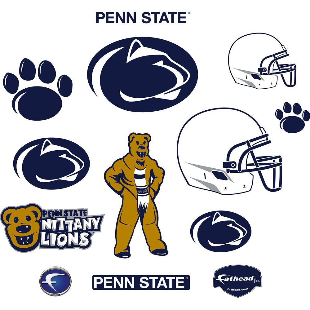 Fathead 40 in. x 27 in. Penn State Nittany Lions Team Logo Assortment Wall Decal