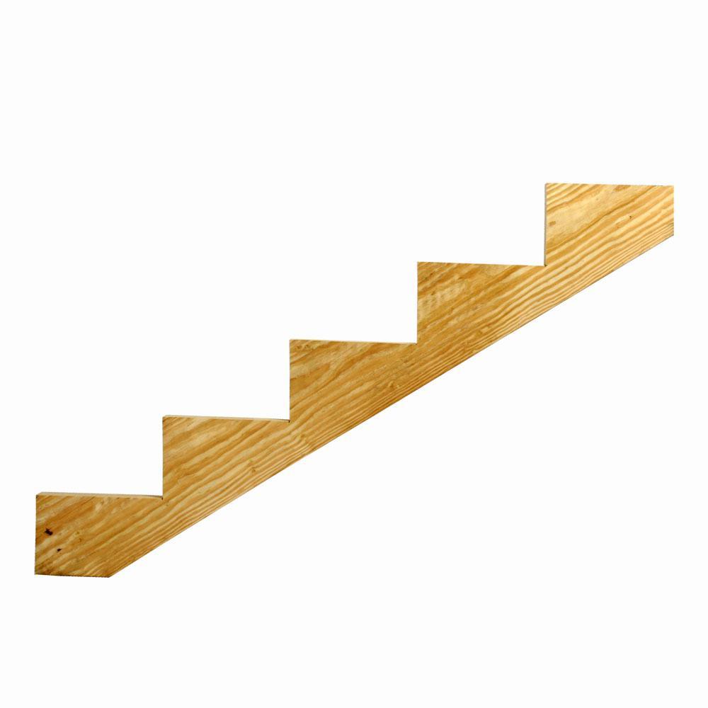 2 in. x 12 in. Cedar Tone 5 Step Stringer