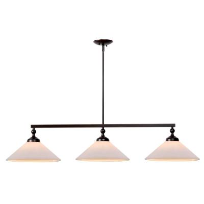 Conical 3-Light Oil Rubbed Bronze Pendant