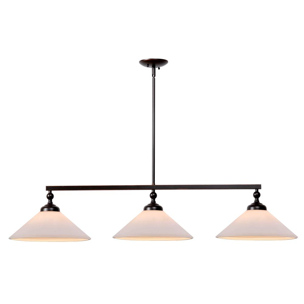 Kenroy Home Conical 3-Light Oil Rubbed Bronze Pendant