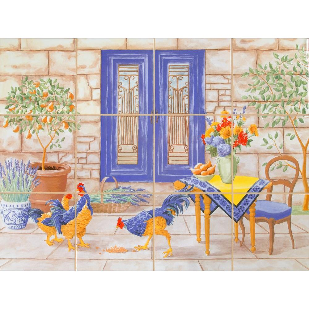 Imagine tile french country 24 in x 18 in ceramic mural wall imagine tile french country 24 in x 18 in ceramic mural wall tile doublecrazyfo Images