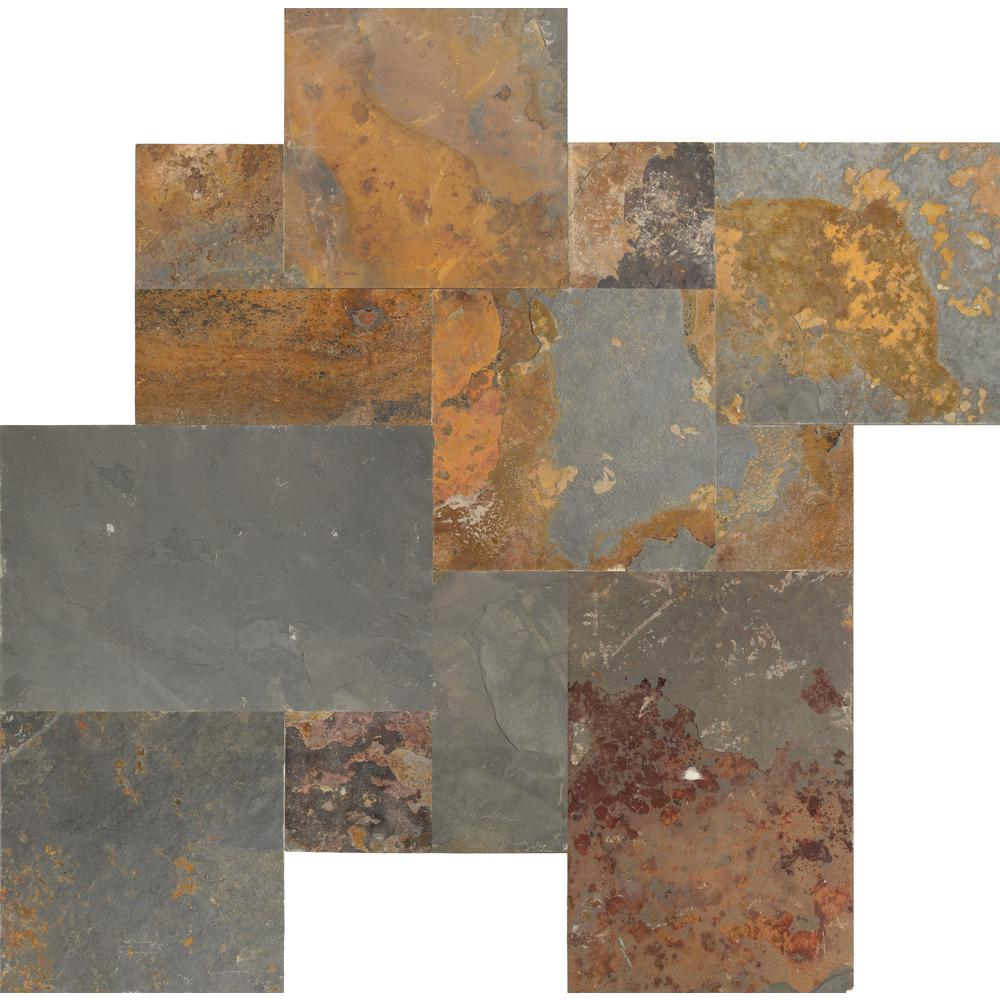 MS International Three Rivers Gold Pattern Gauged Slate Floor and Wall Tile (16 sq. ft. / case)