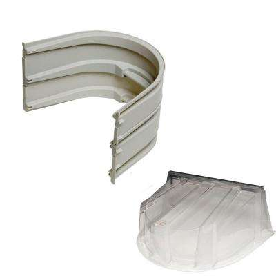 5600 2-Sections 092 Gray Egress Well with Polycarbonate Dome Cover Bundle