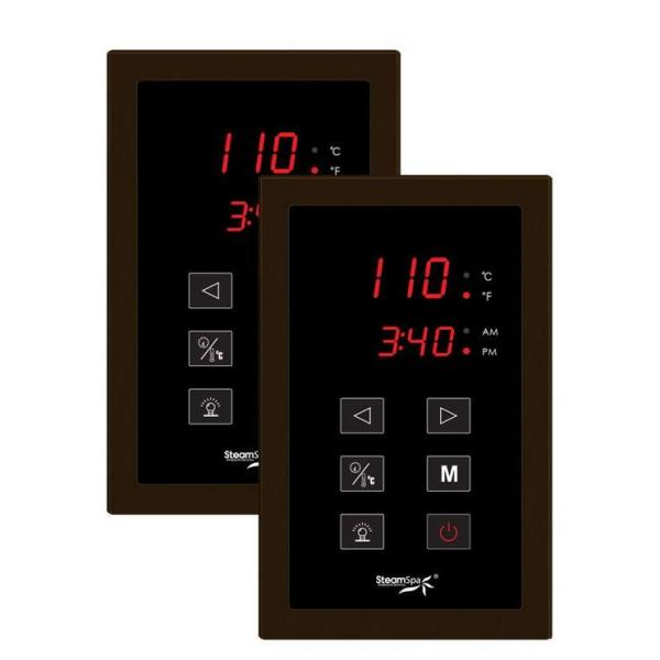 Steamspa Royal 9kw Quickstart Steam Bath Generator Package With Built In Auto Drain In Polished Oil Rubbed Bronze Ryt900ob A The Home Depot