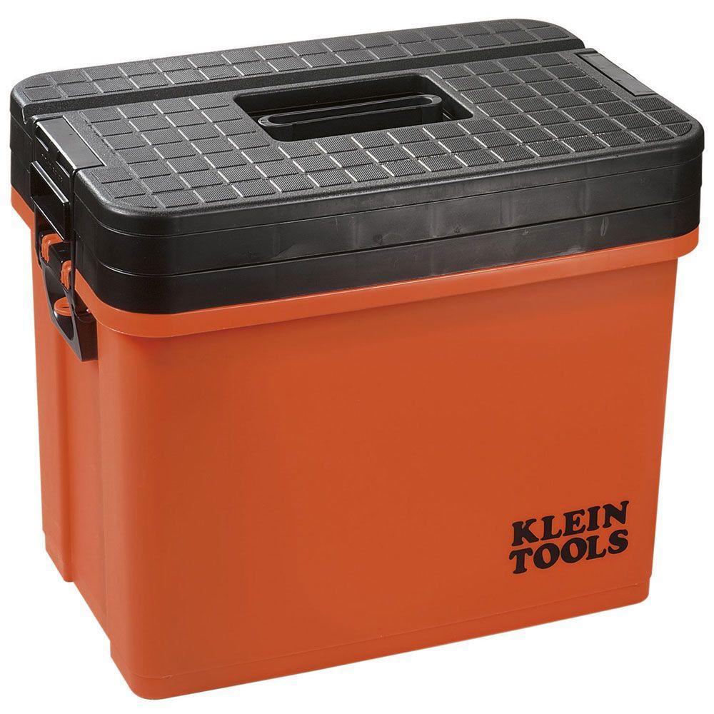 Klein Tools Hi-Viz Sit/Stand 3-Tier Tool Box-DISCONTINUED