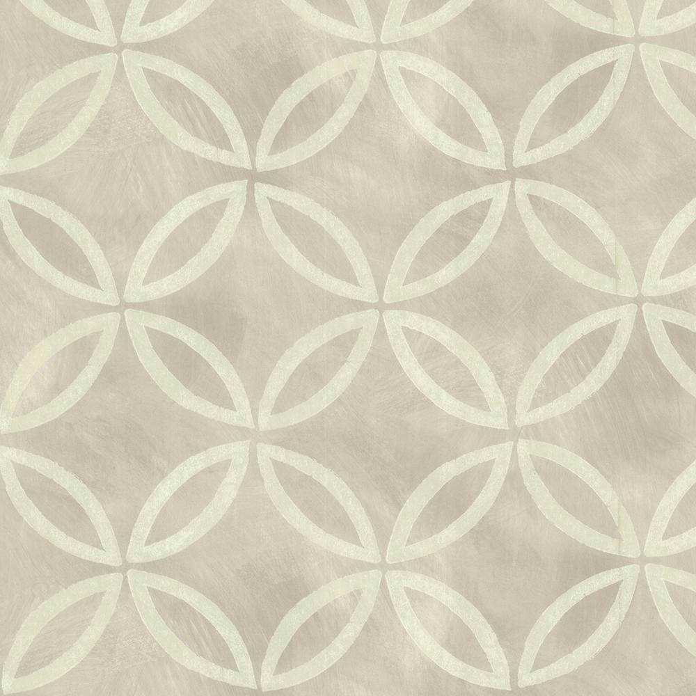 Grey Cloverleaf Geometric Wallpaper