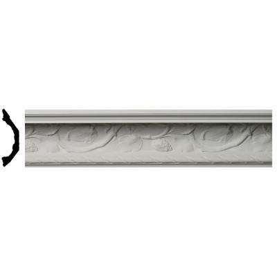 9 in. x 6-5/8 in. x 96 in. Polyurethane Odessa Crown Moulding