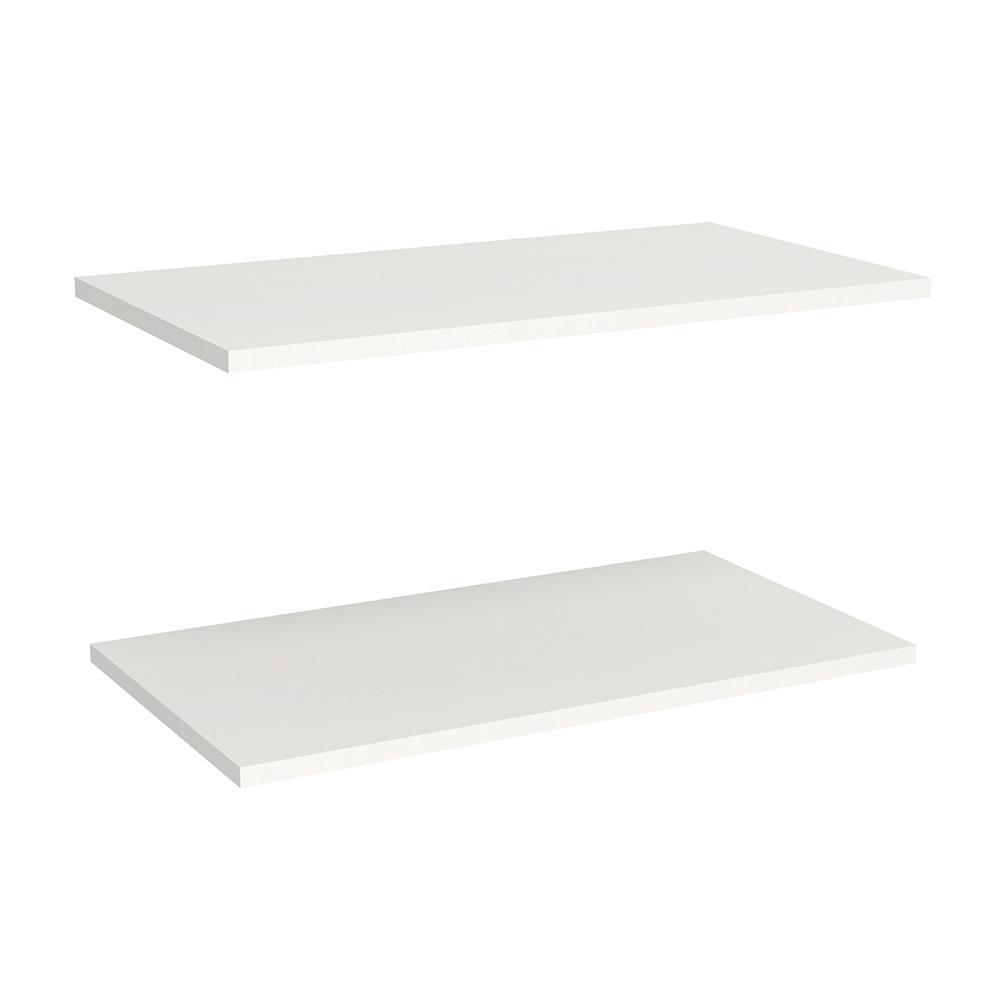 ClosetMaid Impressions 2 Shelf 25 In. Standard Laminate 23 In. W Extra  Shelves In White (2 Pack) 14535   The Home Depot