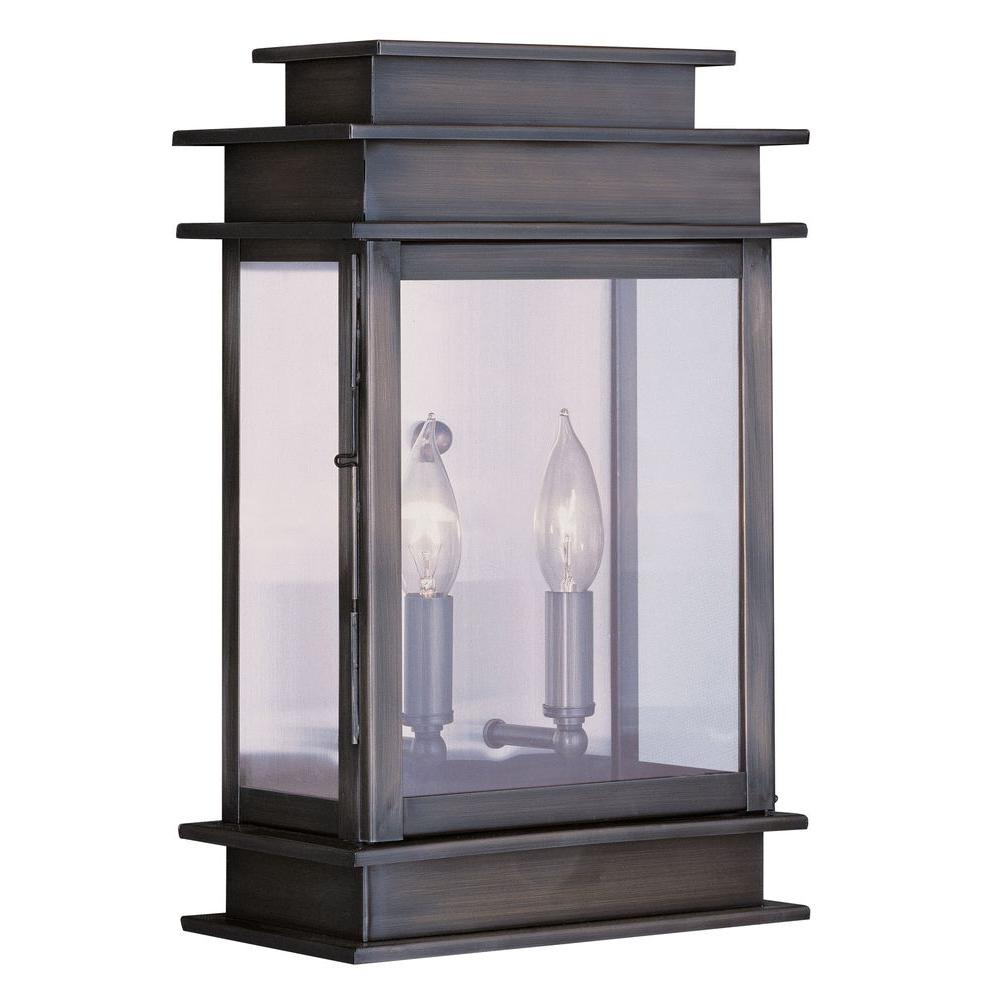 Providence 2-Light Outdoor Vintage Pewter Incandescent Wall Lantern
