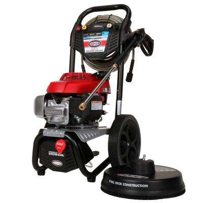 3000 PSI 2.4 GPM Gas Pressure Washer Powered by Honda with 15 in. Scrubber and 50 ft. Hose