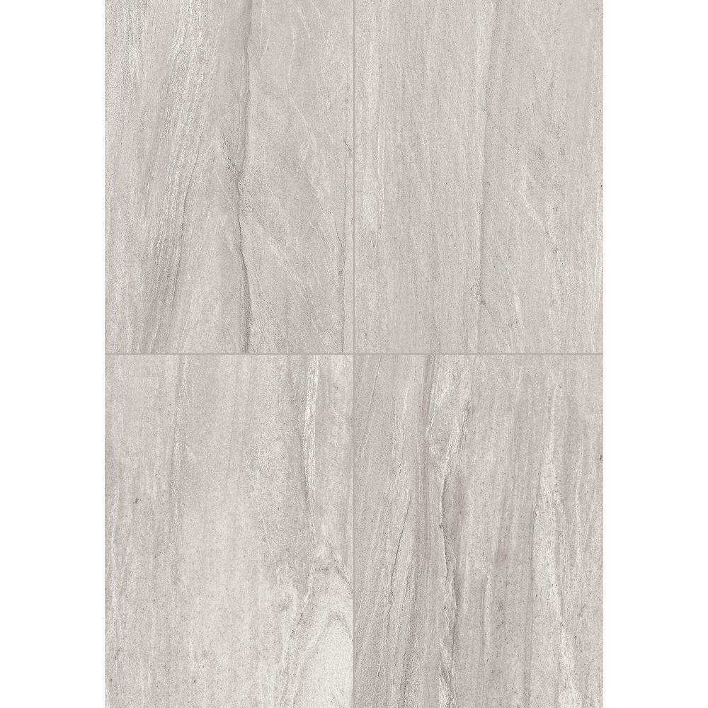 Fairfield Gray Matte 10 in. x 14 in. Glazed Ceramic Wall