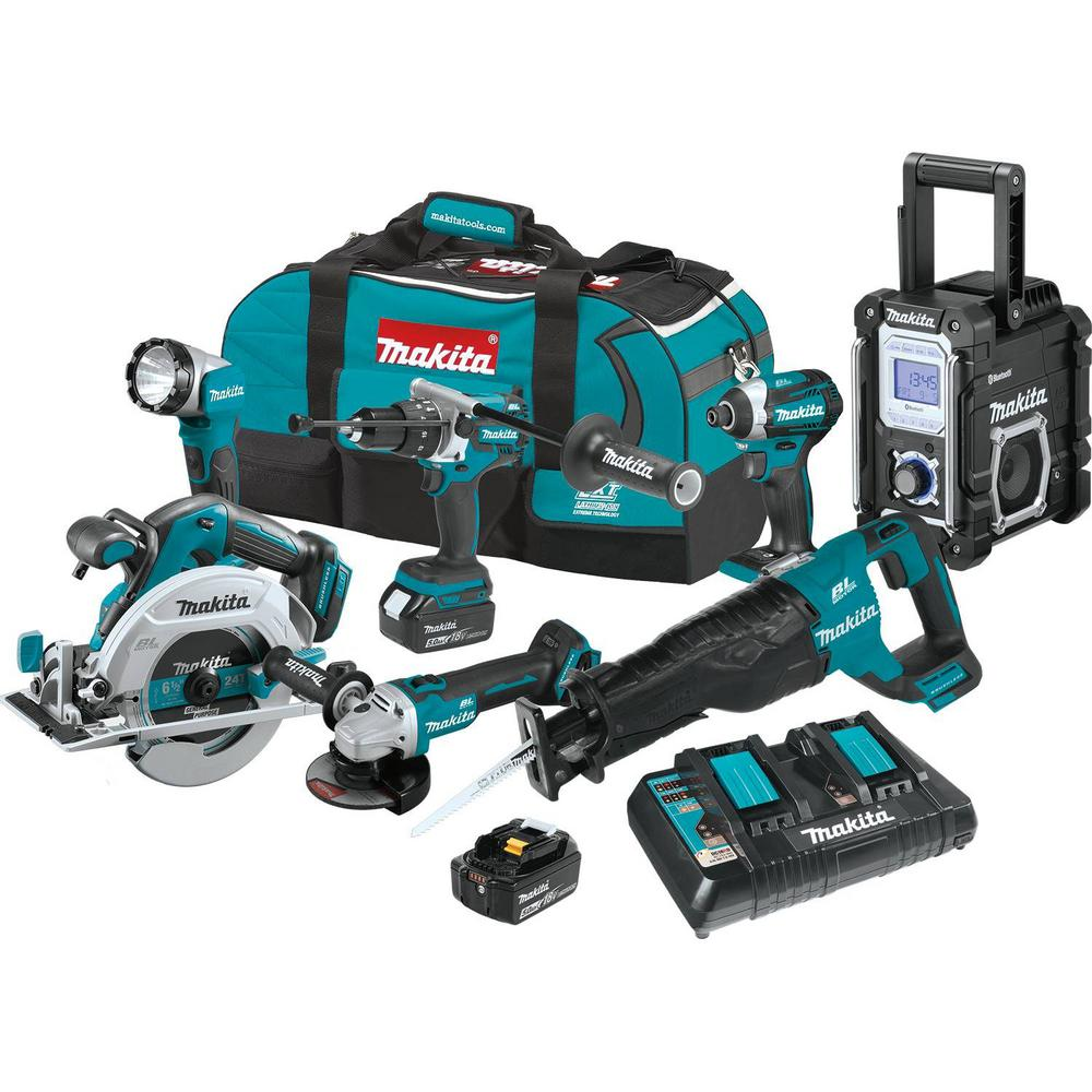 18-Volt LXT Brushless 7 Pc. Kit (Hammer Driver-Drill, Impact Driver, Recipro