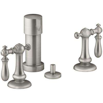 Artifacts Swing Lever 2-Handle Bidet Faucet in Vibrant Brushed Nickel