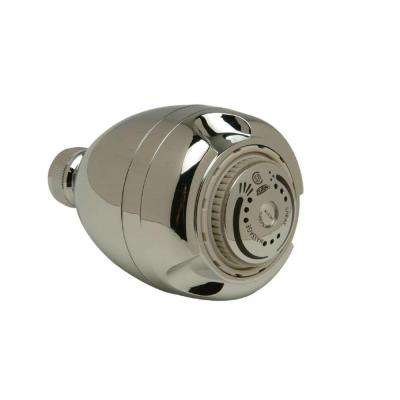1-Spray 2.625 in. Adjustable Showerhead in Chrome