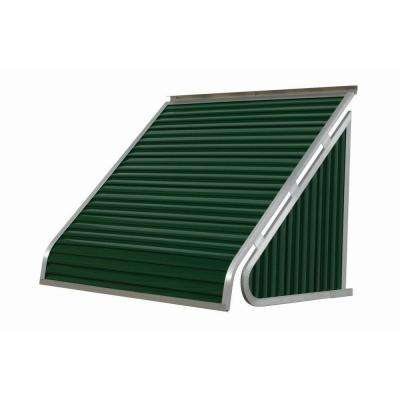 3.5 ft. 3500 Series Aluminum Window Awning (28 in. H x 24 in. D) in Hunter Green