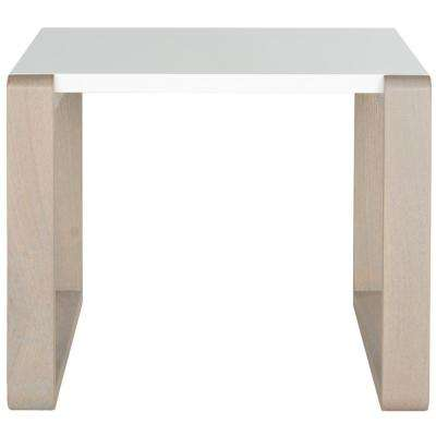 Bartholomew White and Gray End Table