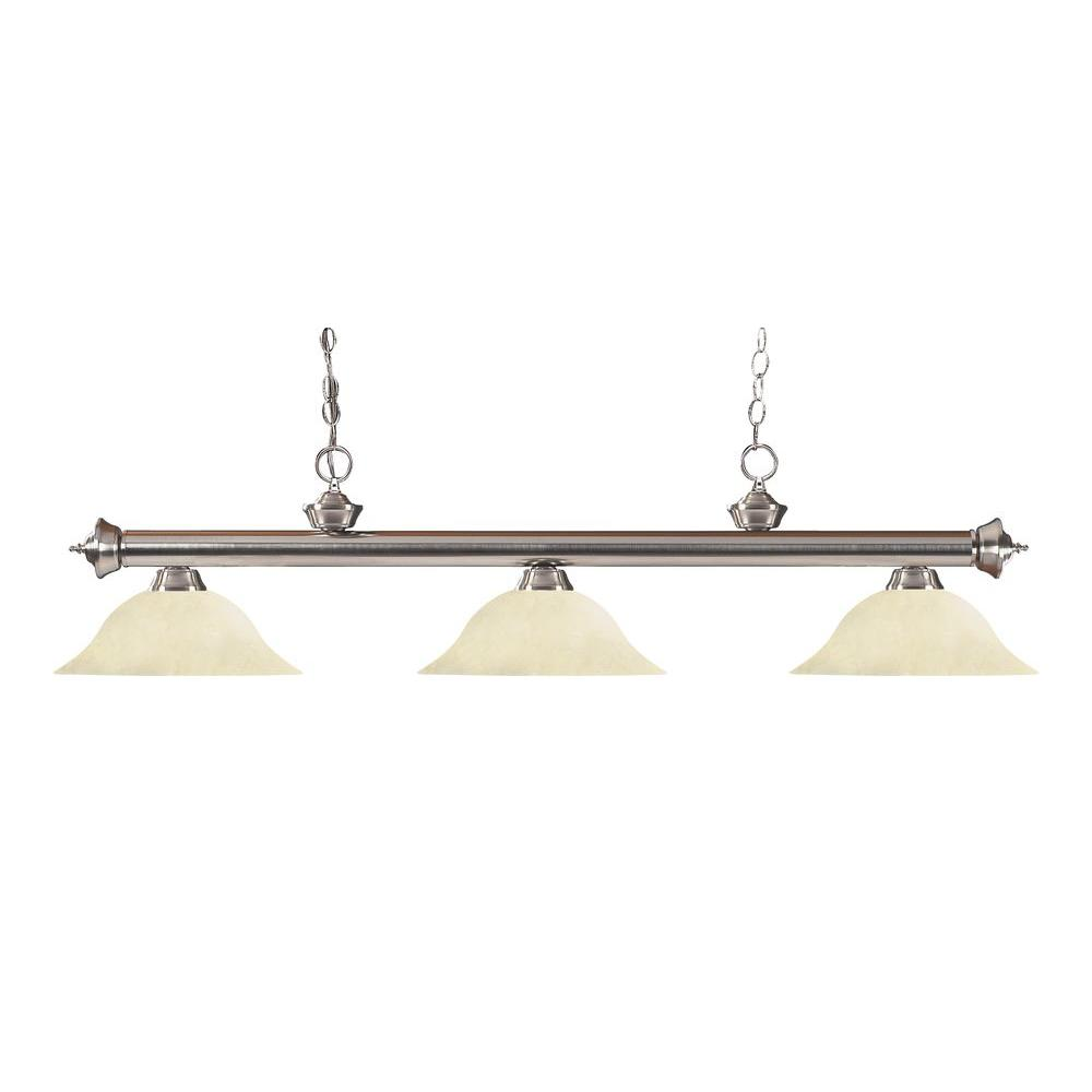 Coast 3-Light Brushed Nickel Island Light