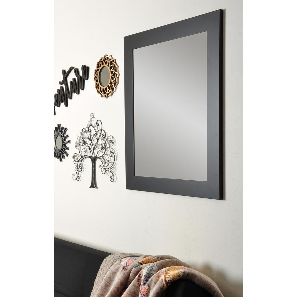 Formal Black Vanity Wall Framed Mirror