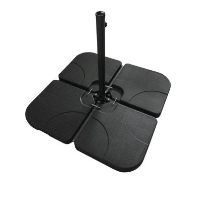 Patio Plastic Umbrella Base in Black