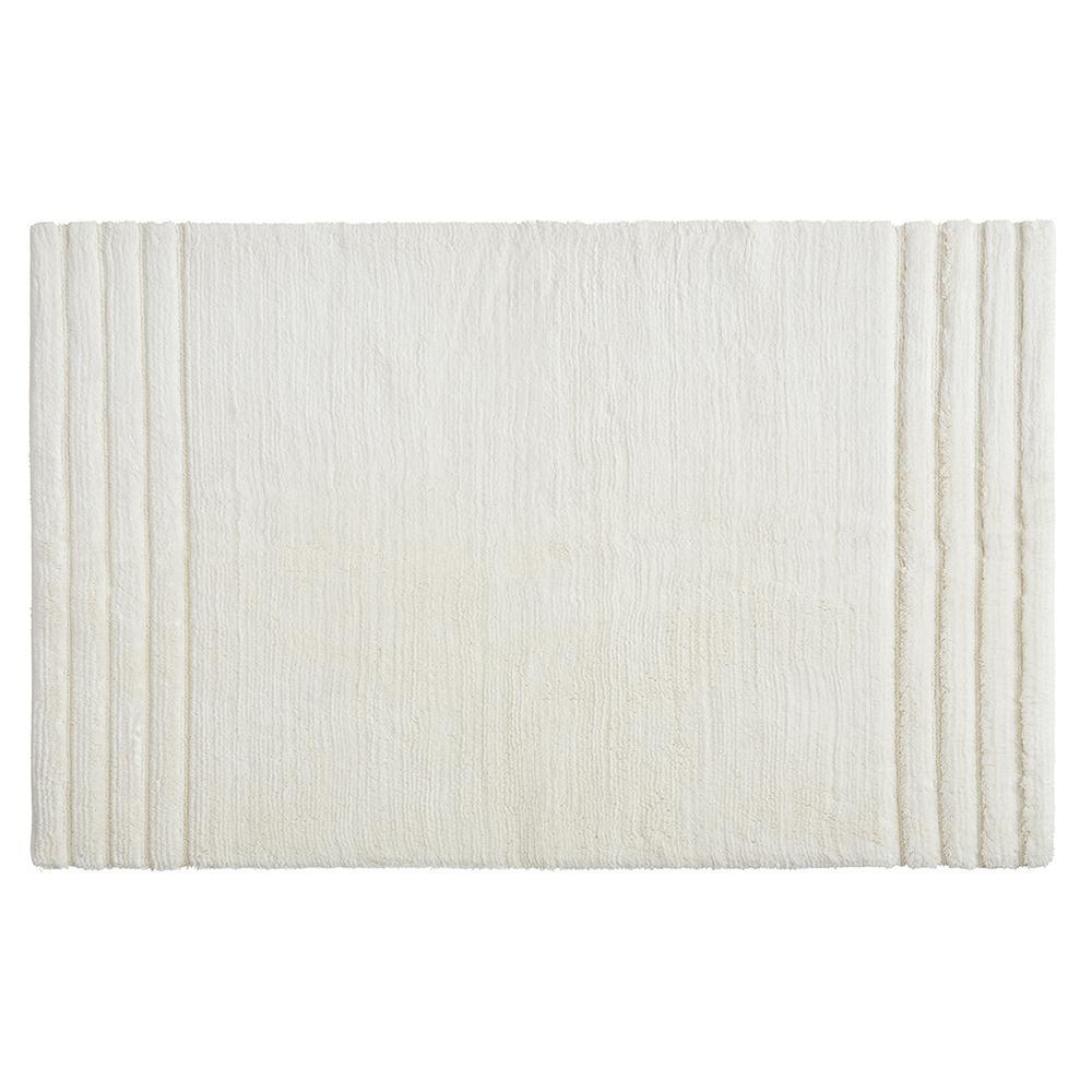 Empress 30 in. x 50 in. Cotton Bath Mat in Parchment