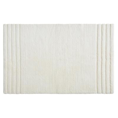 Empress 30 in. x 50 in. Cotton Bath Mat in Parchment