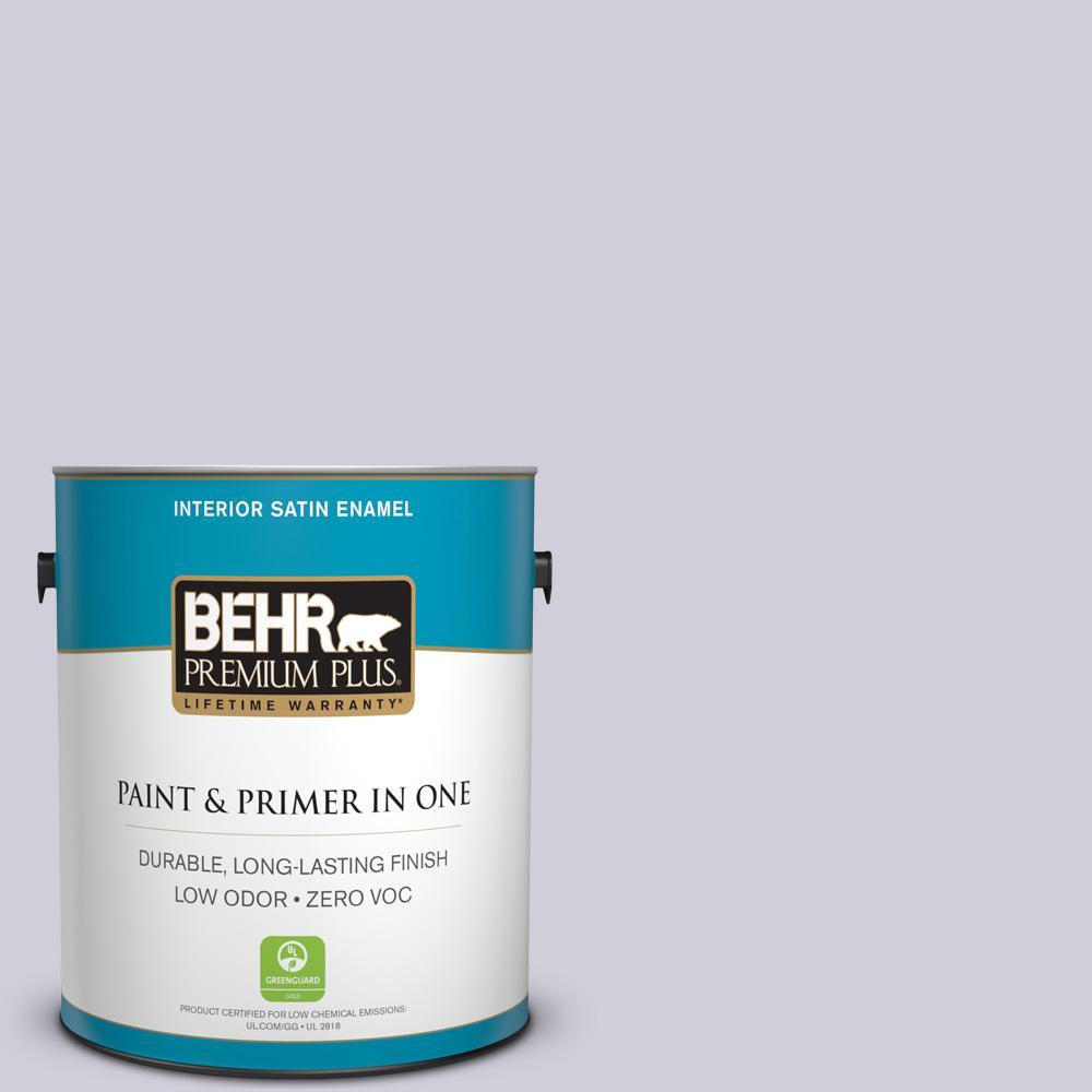 1-gal. #660E-2 Purple Essence Zero VOC Satin Enamel Interior Paint