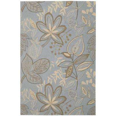 Fantasy Light Blue 5 ft. x 8 ft. Area Rug