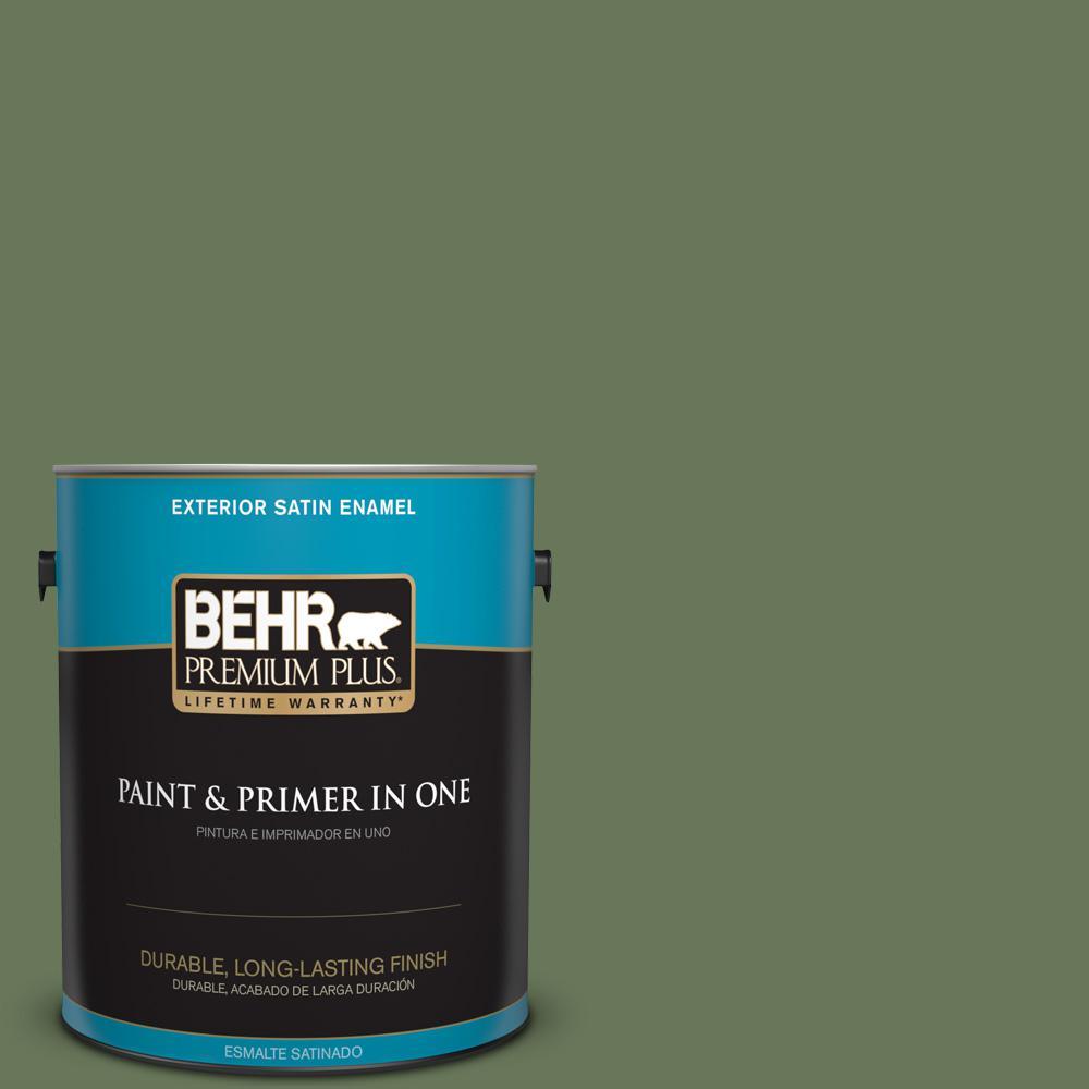 1 gal. #PPU10-01 Scallion Satin Enamel Exterior Paint