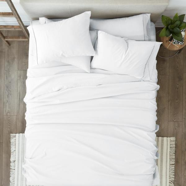 King Size Boutique Living 825 Thread Count 6Pc Sheet Set White