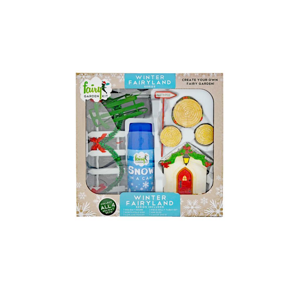 Winter Fairyland Polyresin Fairy Garden Kit (10-Piece)