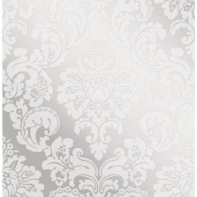 Margot Silver Damask Wallpaper