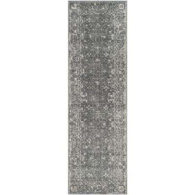 Evoke Gray/Ivory 2 ft. x 11 ft. Runner Rug