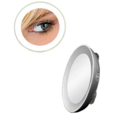 10X LED Lighted Next Generation Spot Makeup Mirror in Silver