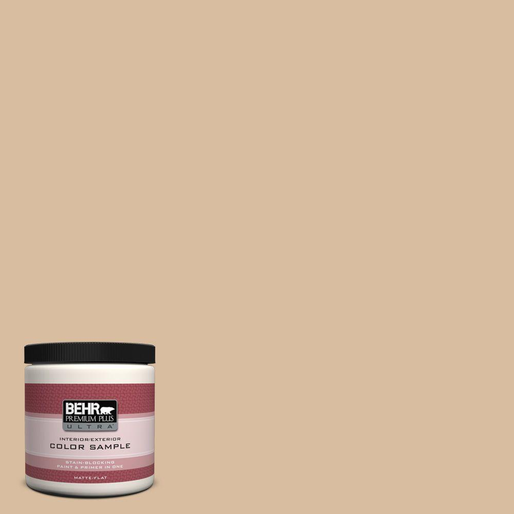 BEHR Premium Plus Ultra 8 oz. #PPU4-14 Renoir Bisque Interior/Exterior Paint Sample
