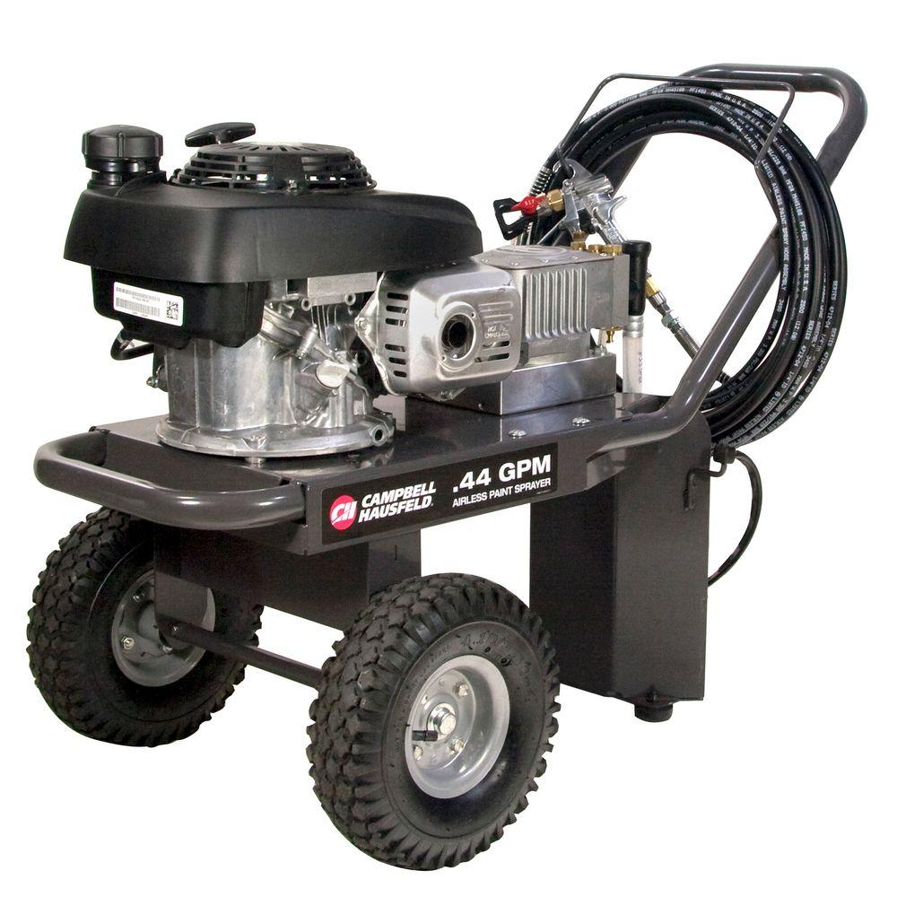 Campbell Hausfeld Gas Powered Airless Paint Sprayer, .44 GPM, Honda GCV 160cc