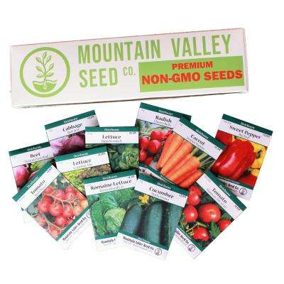 12 Non-GMO Gardening Seed Packs, Lettuce, Carrot, Cucumber, More Deluxe Assortment Salad Garden Seeds Collection